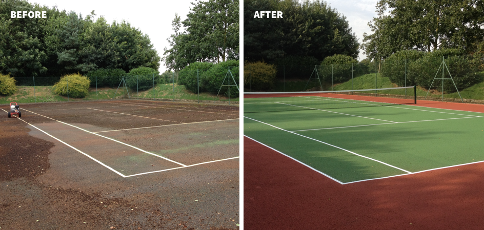 Tennis court maintenance 7