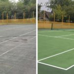 Tennis court maintenance 8