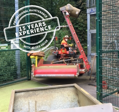 Synthetic Tennis Court Maintenance & Rejuvenation