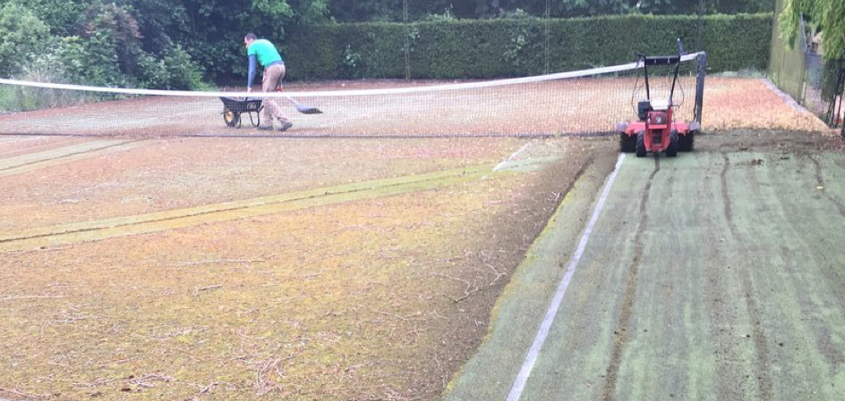 Synthetic Tennis Court Maintenance & Rejuvenation 8