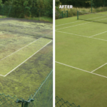 Synthetic Tennis Court Maintenance & Rejuvenation 9