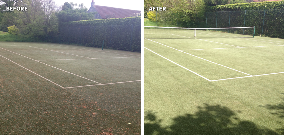 Synthetic Tennis Court Maintenance & Rejuvenation 10