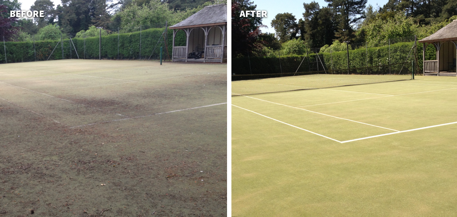 Synthetic Tennis Court Maintenance & Rejuvenation 11