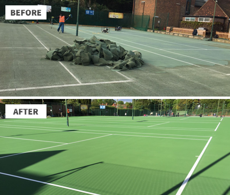 Before / After Sutton Tennis Club