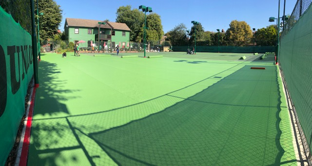 Hartswood hard surface tennis courts