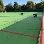 hard surface tennis courts
